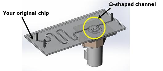 Beispielhafter Chip mit Pumpensystem