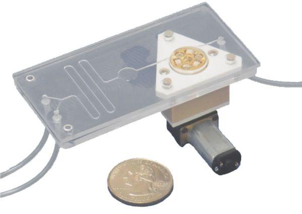 Mikrofluidik Chip-Schlauchpumpe